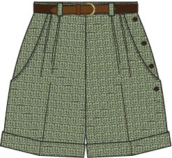 the casual voyager shorts. blue/green/brown