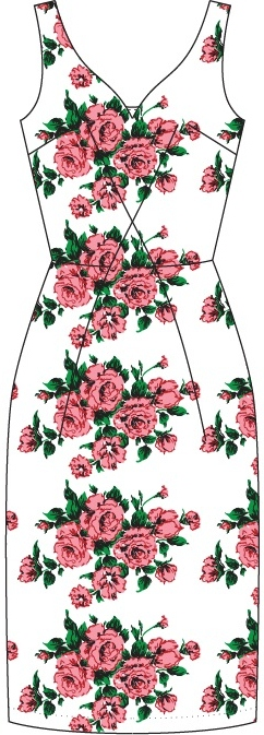 the jamming with Jackie dress. Pink roses