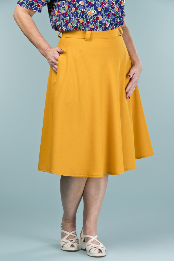 emmydesign - the jazzy A-line skirt. mustard weave