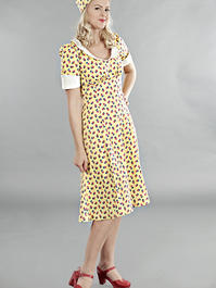 the lovely lindy dress. Yellow flowers