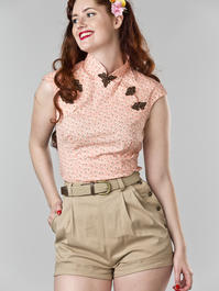 the Shanghai sweetie top. peach cotton