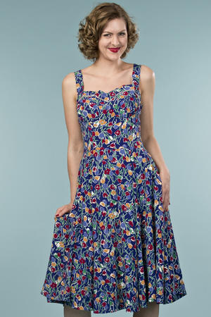 the countryside cutie dress. tulips in blue
