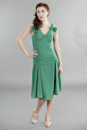 the Havana heartbreaker dress. Green