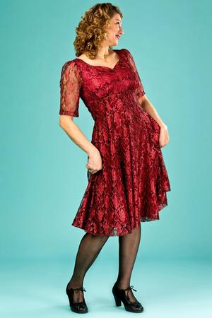 the drop dead gorgeous dress. red lace