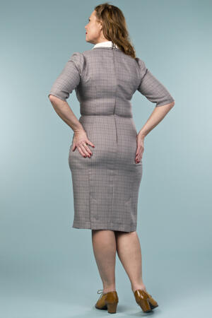the nice and neat wiggle dress. brown weave