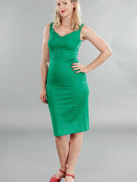 the jamming with Jackie dress. Green pique
