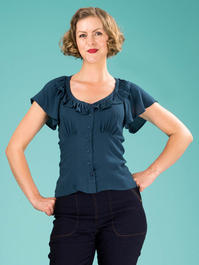 the charming charleston top. teal