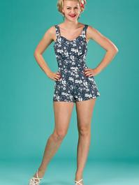 the beach beauty playsuit. navy floral