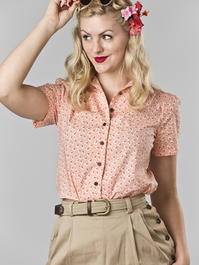 that same old favorite blouse. peach cotton