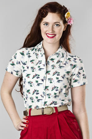 that same old favorite blouse. vacation white