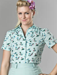 that same old favorite blouse. vacation mint blue