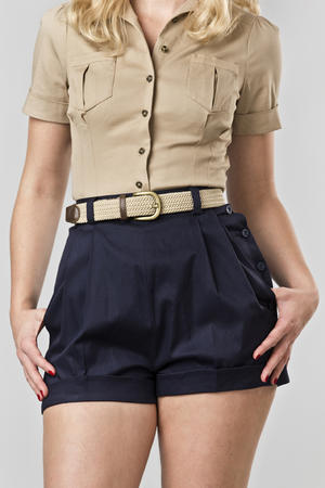 the casual voyager shorts. navy twill