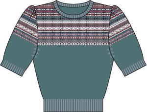 the fair Fair Isle sweater. dusty blue