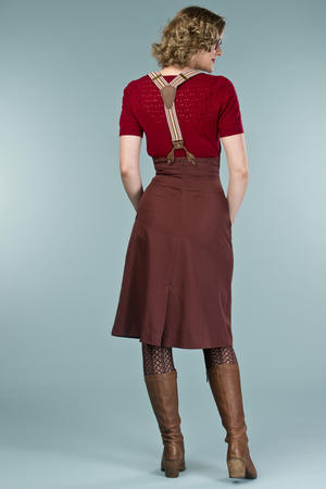 the miss fancy pants skirt. chocolate twill