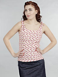 the bona fide bows beach top. Pink flowers