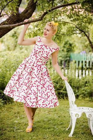 the midsummer dream dress. Cherry printed pique