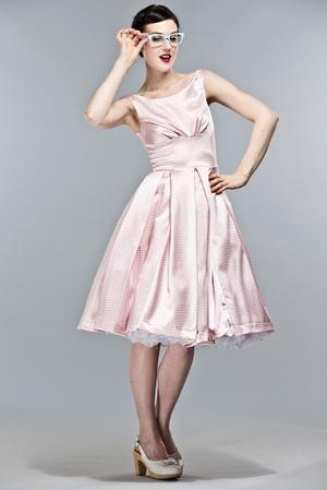 the midsummer dream dress. Pink checked satin