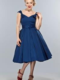 the bona fide bow dress. Navy pique