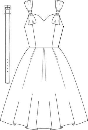 the bona fide bow dress. Navy pique