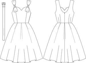 the bona fide bow dress. Coral pique