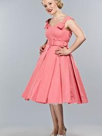 the bona fide bow dress. Coral pique