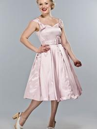 the bona fide bow dress. Candy pink checked satin