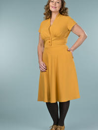 the apple of my eye dress. mustard crêpe