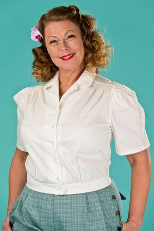 the hepcat holiday blouse. bright white