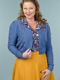 the Susie Q cardigan. blue
