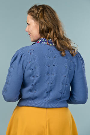 the Susie Q cardigan. blue