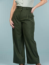 the fancy worker pants. deep forest combed twill