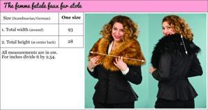 the femme fatale faux fur stole. black