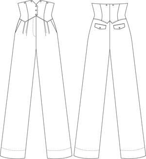 the miss fancy pants slacks. black bengaline