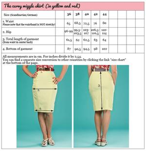 the curvy wiggle skirt. pale lemon