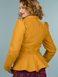the screen siren jacket. mustard heavy pure wool
