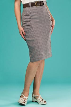 the curvy wiggle skirt. brown weave
