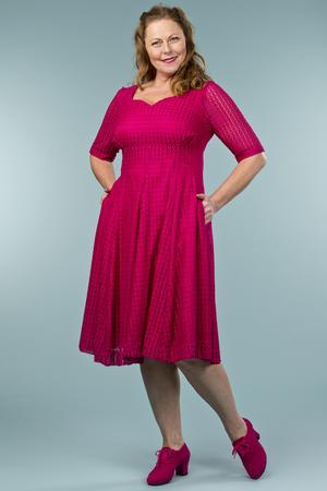the drop dead gorgeous dress. pink lace