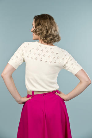 the knock out knit top. cream white