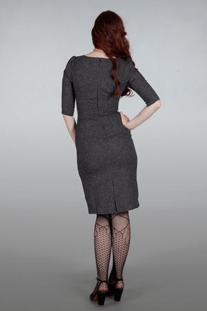 The golden days wiggle dress. Black salt & pepper