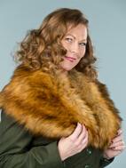the femme fatale faux fur stole. foxy