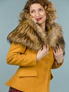 the femme fatale faux fur stole. light