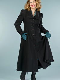 the old Hollywood princess coat. black pure wool