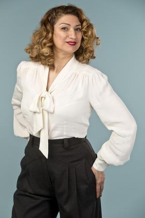 the busy bow blouse. cream white crêpe