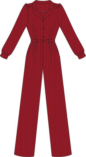 the feminine flair jumpsuit. wine salt & pepper
