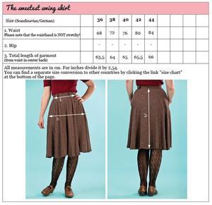 the sweetest swing skirt. wine salt & pepper