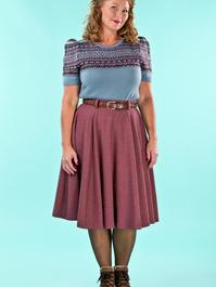 the sweetest swing skirt. wine salt & pepper