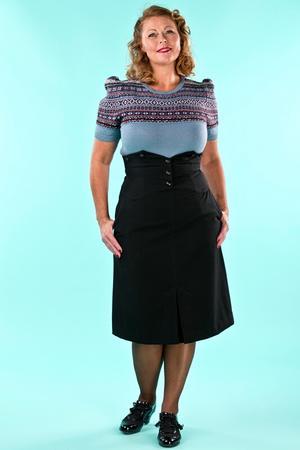 the miss fancy pants skirt. black twill