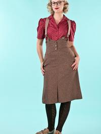 the miss fancy pants skirt. brown salt & pepper