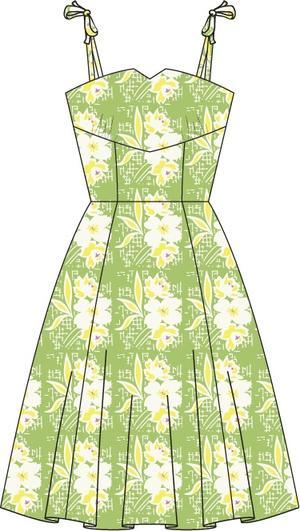 the pretty perfect picnic dress. green floral