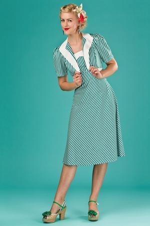 the shoo shoo baby bolero dress. green/white